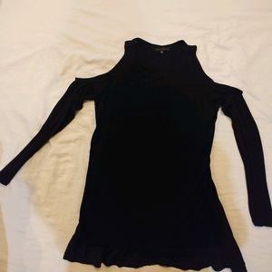 Light Weight Long Sleeve Cold Shoulder Top